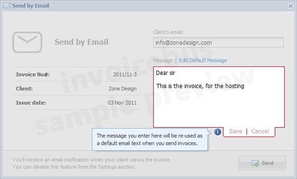 Invoicebus Email Edit