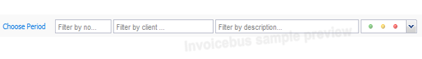 Invoices Filters
