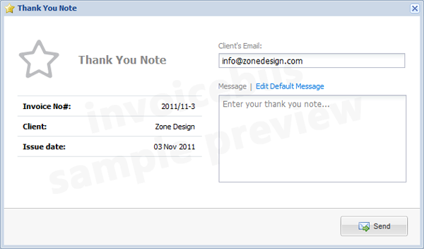 Invoicebus Thank You Note