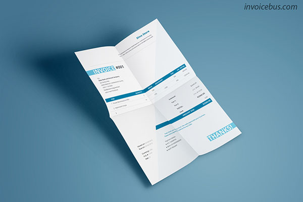 Generic Invoice Template Cobardia (turquoise)