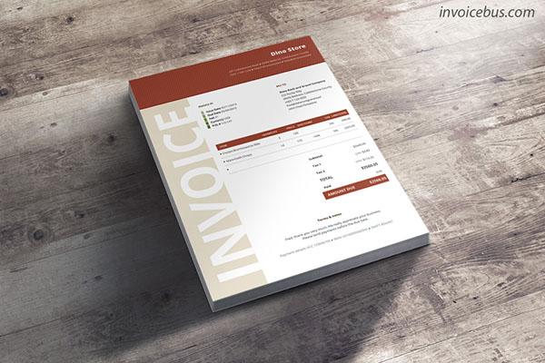 Professional invoice template Niana (brick)