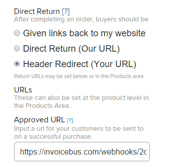 2Checkout Return URL