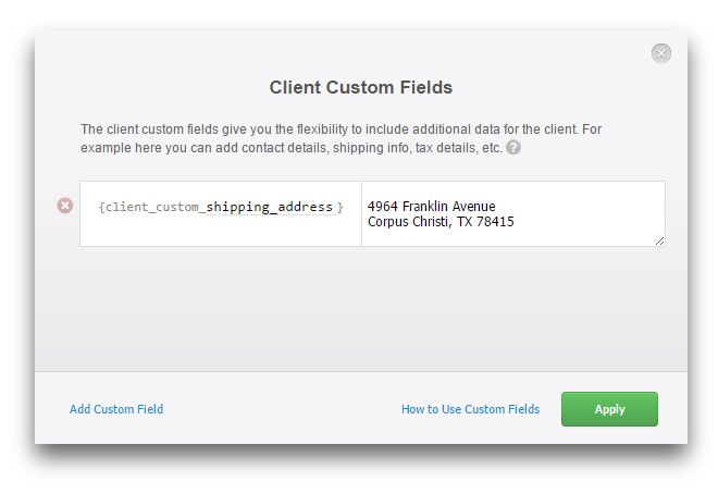 Client Custom Fields