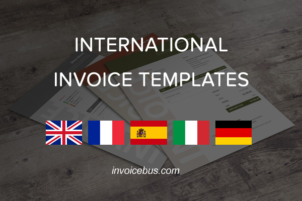 International Invoice Templates