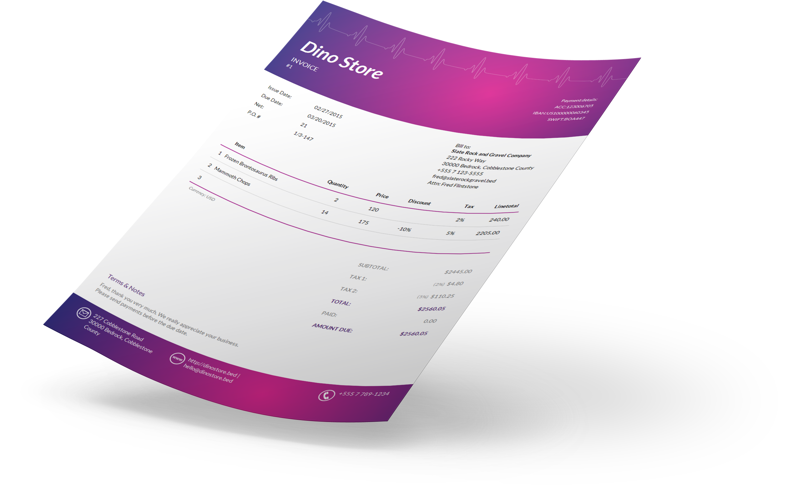 Invoice Template  Design Invoices