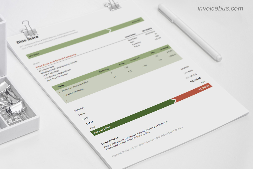 Best Invoice Templates Armo
