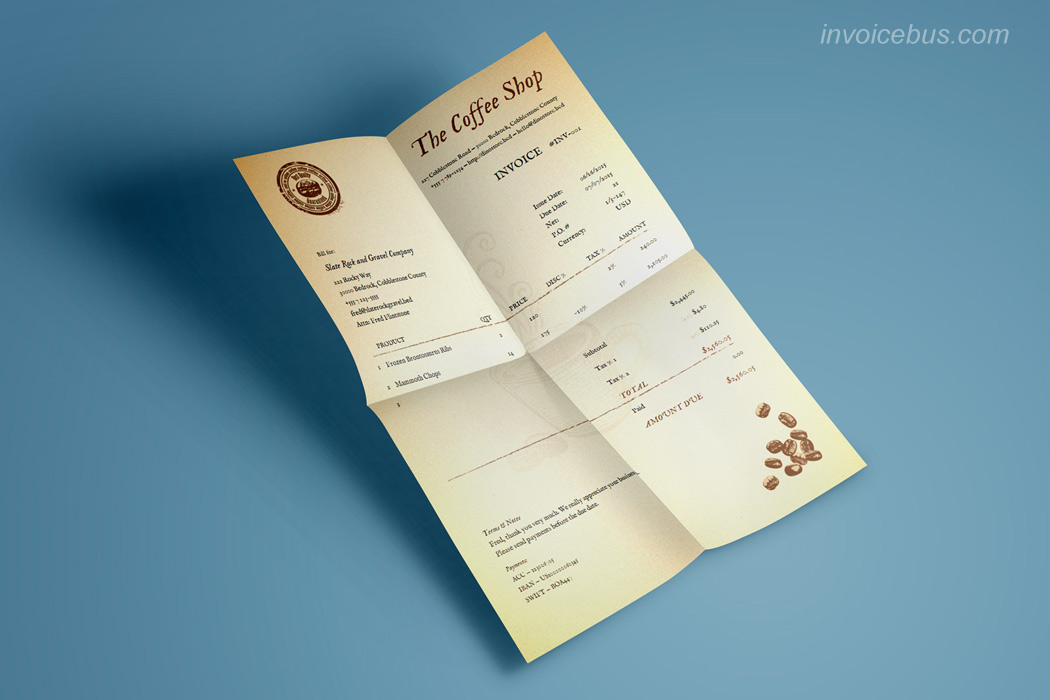 Best Invoice Templates Coffee