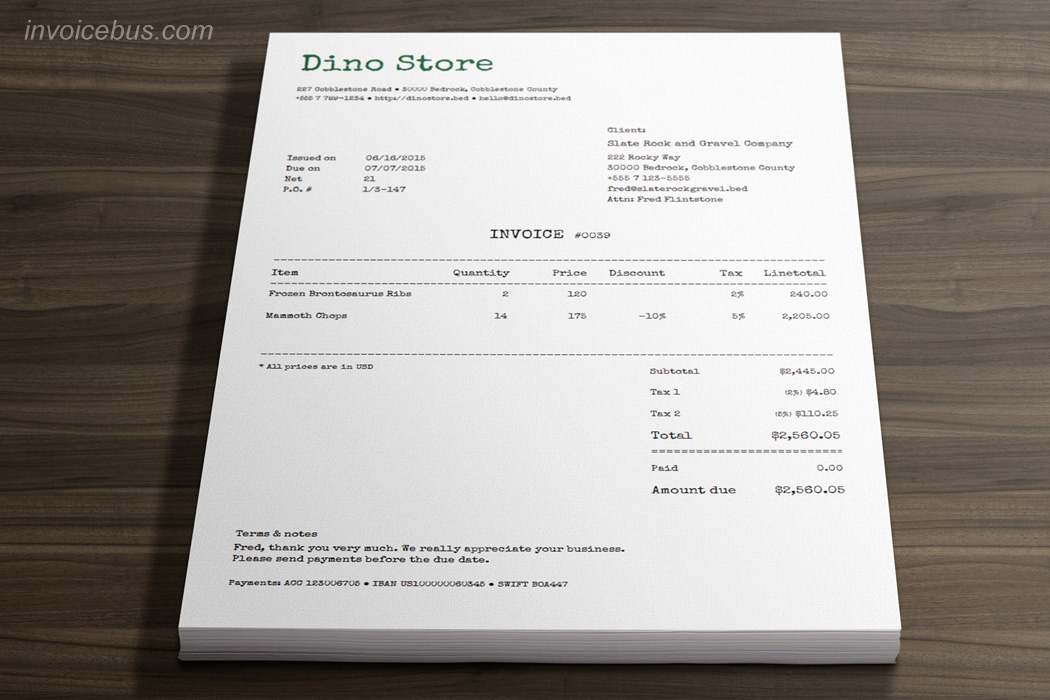Best Invoice Templates Machine