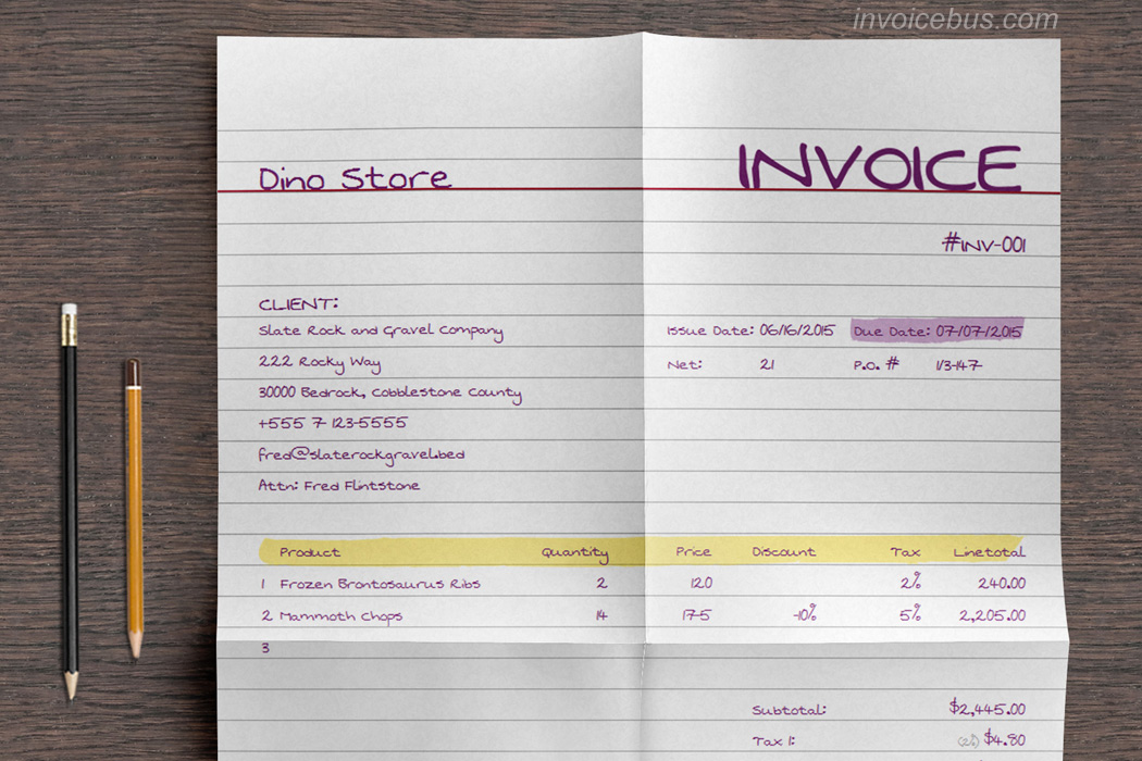 Best Invoice Templates Mo