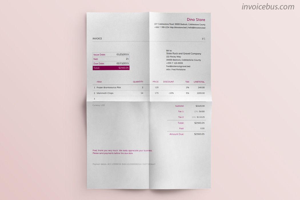 Best Invoice Templates Sapphire