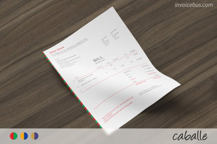 Bill for services template - Caballe