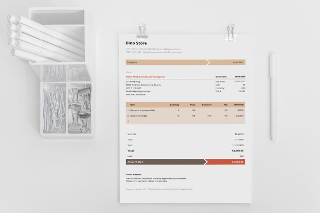 Bundle Business Invoice Template Armo