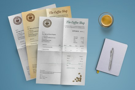 Bundle Coffee Shop Invoice Template