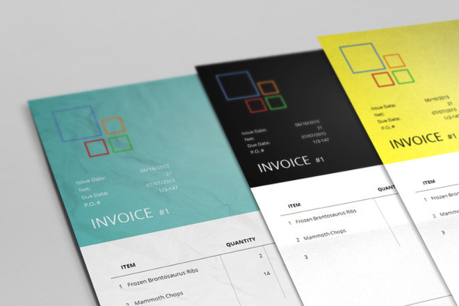 Bundle Corporate Invoice Template Aldona