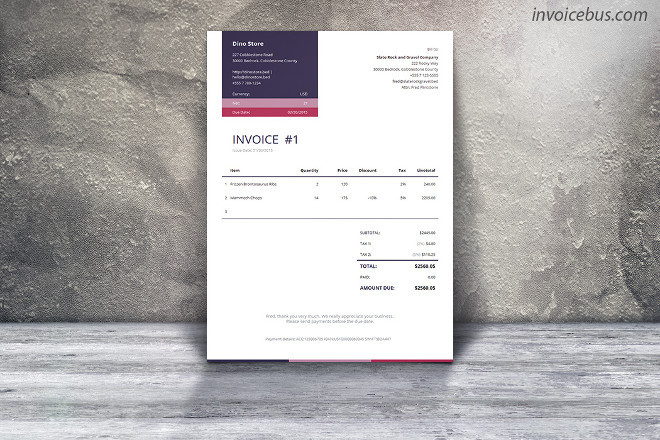 43 autocalculating invoice templates vol 1