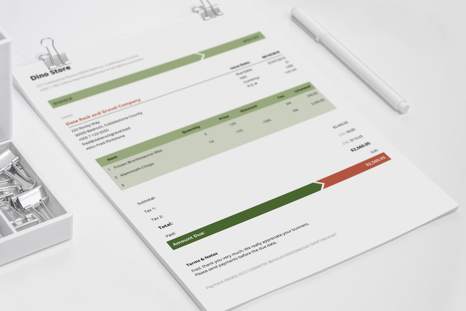 beautiful invoice design business invoice template