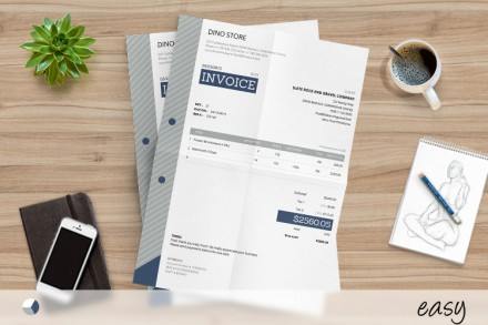 Easy to use corporate invoice template, made for corporations and adjustable for small businesses and freelancers, ready to use on Mac or PC. Download it at //invoicebus.com/templates/invoices/corporate/corporate-invoice-template-easy/