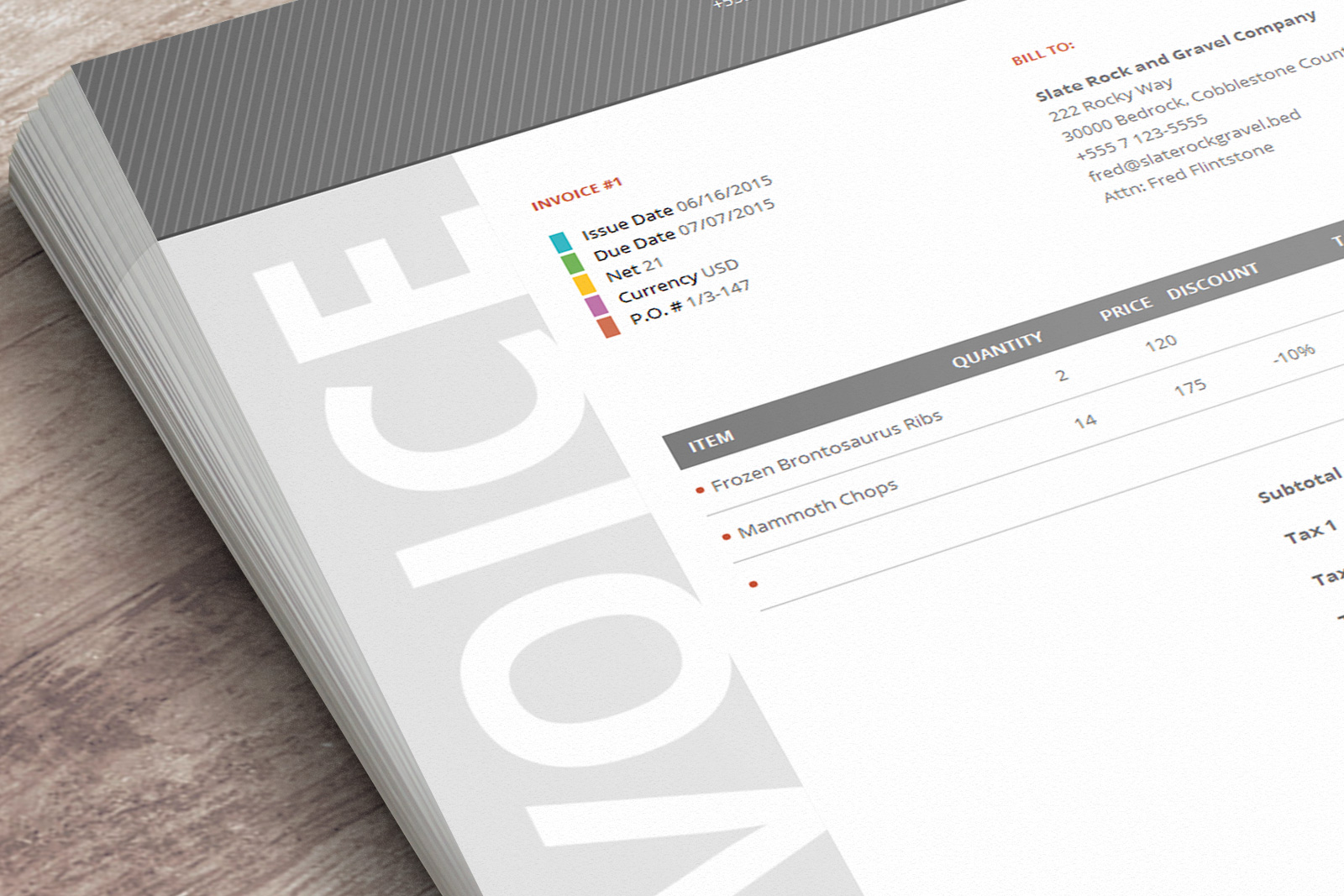 this beautiful invoice template has a very corporate design and will make you look like a - Business Invoice