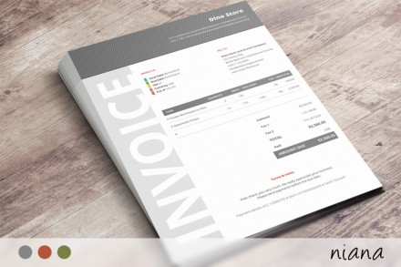 This beautiful invoice template has a very corporate design and will make you look like a Fortune 500 company.