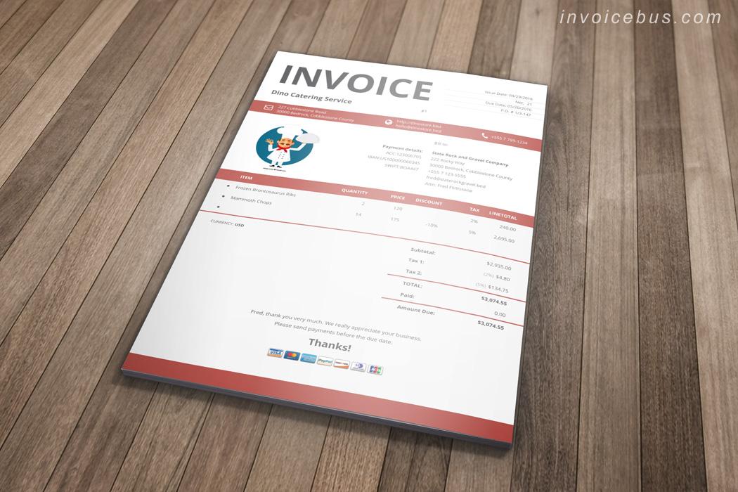 Catering Invoice Template - Ori
