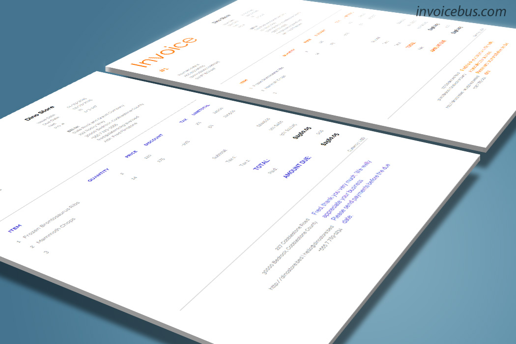 Clear Invoice Template Dune
