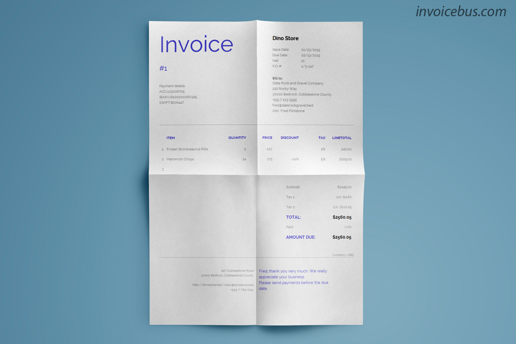 Dune is clear invoice template that utilizes an easy-to-read approach. Subtle lines break down the invoice sections into easy digestible chunks, and at the end, the payer is in no doubt as to what he owes. Download it at https://invoicebus.com/templates/invoices/corporate/clear-invoice-template-dune/