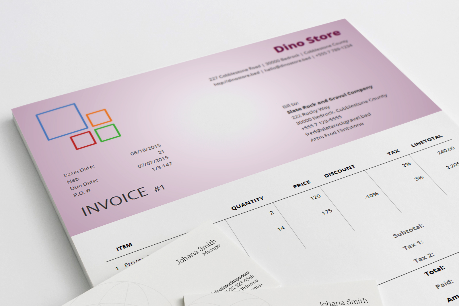 Corporate Invoice Template Aldona - Corporate invoice template