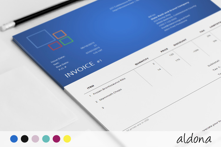 corporate invoice template - aldona, Invoice templates