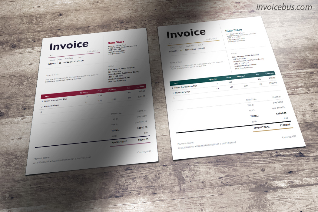 Bella is corporate invoice template that expresses character of a globally recognized firm. It delivers message of a brand that is prestigious, professional and elegant. The upper part is divided into 4 easy-to-read sections and contains the most important info. The rest of the page is taken up with the itemized list which clearly explains exactly what you're charging for. Download it at https://invoicebus.com/templates/invoices/services/smart-invoice-template-bella/