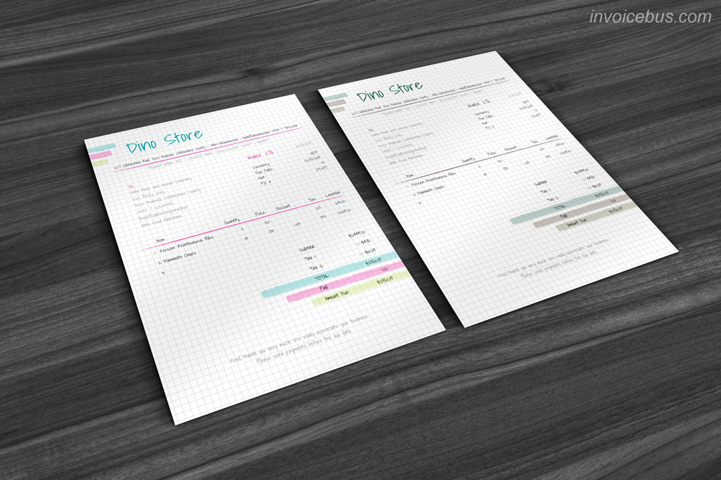 By using handwritten typeface on a squared paper background, Azalea gives artistic touch with warm sensibility. This creative invoice template is so unusual that can't help but be noticed. Download it at https://invoicebus.com/templates/invoices/creative/creative-invoice-template-azalea/