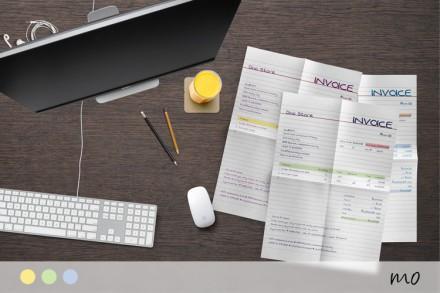 Modèle de facture manuscrit d\'un designer- Mo