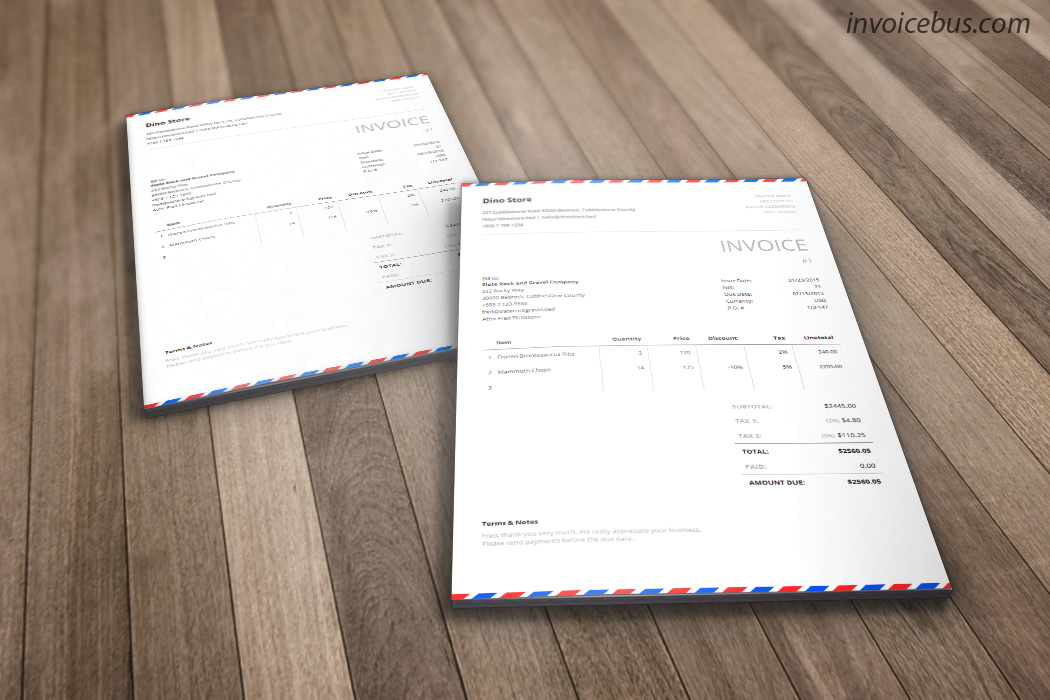 ... Inspired By The Awesome Airmail Envelopes, Postal Is Generic Invoice  Template That Evokes The Sense ...  Invoice For Free