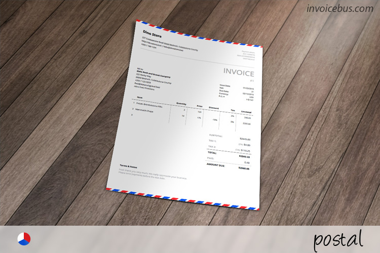 Envelope Invoice Template  Postal