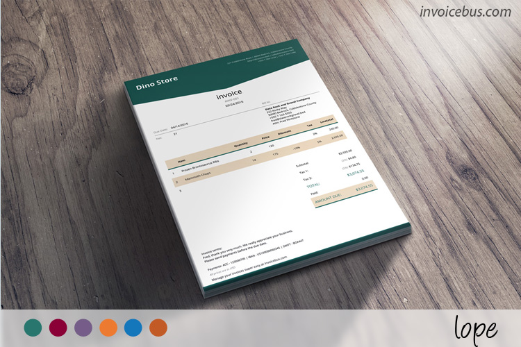 HTML Invoice Template Lope 0