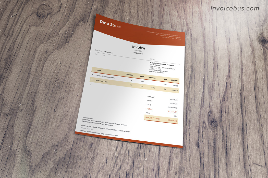 HTML Invoice Template Lope - Invoice template html