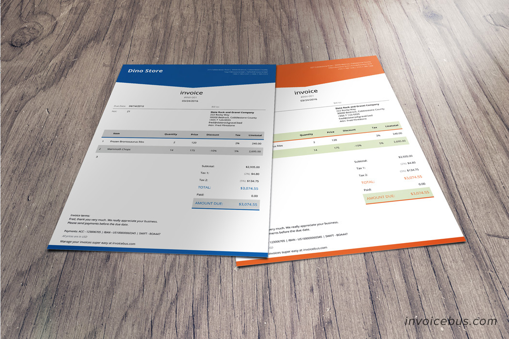 html invoice template - lope, Invoice templates