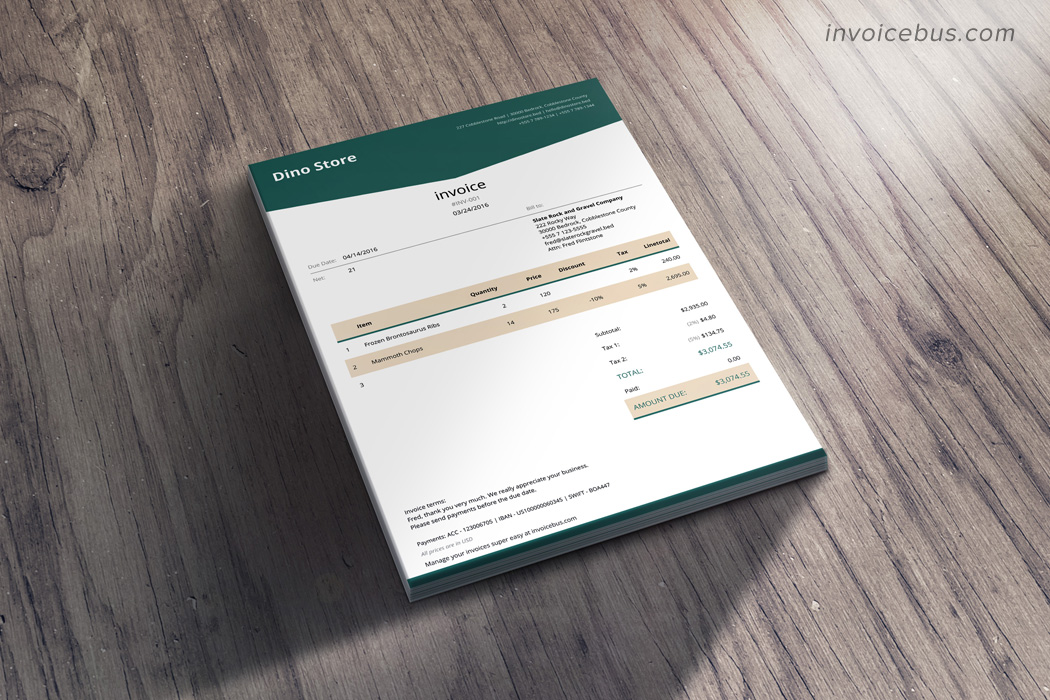 HTML Invoice Template Lope - Html invoice template