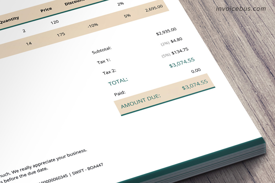 HTML Invoice Template Lope 7