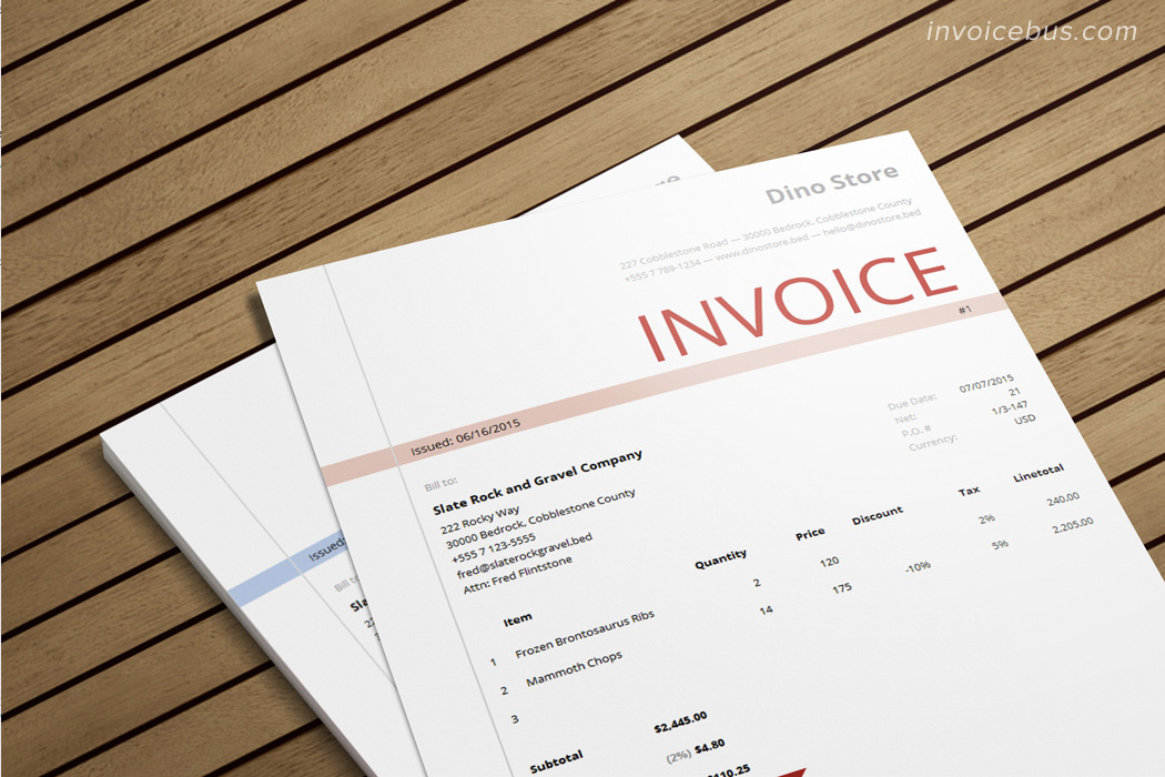 HTML Invoice Template Morry 1