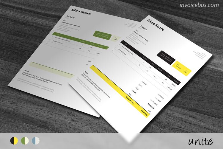 HTML Invoice Template Unite - Html invoice template