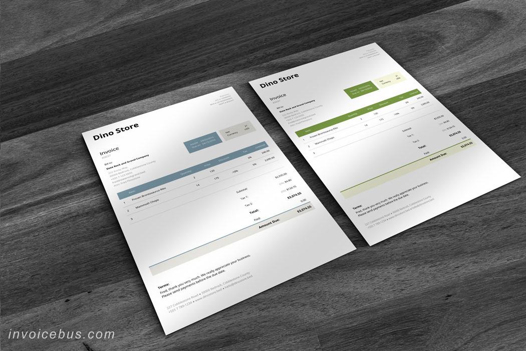 HTML Invoice Template Unite 2