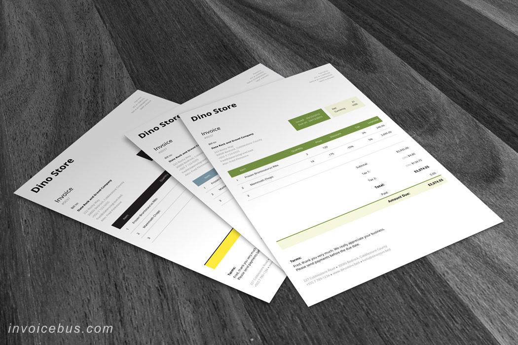 HTML Invoice Template Unite 8