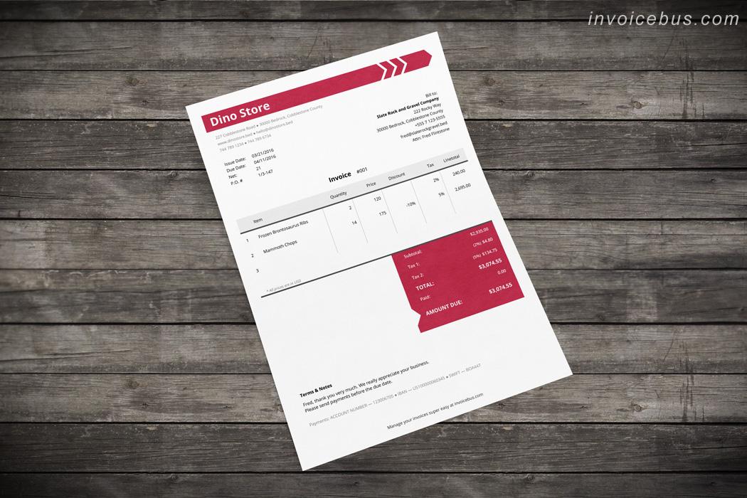 Membership invoice template IO