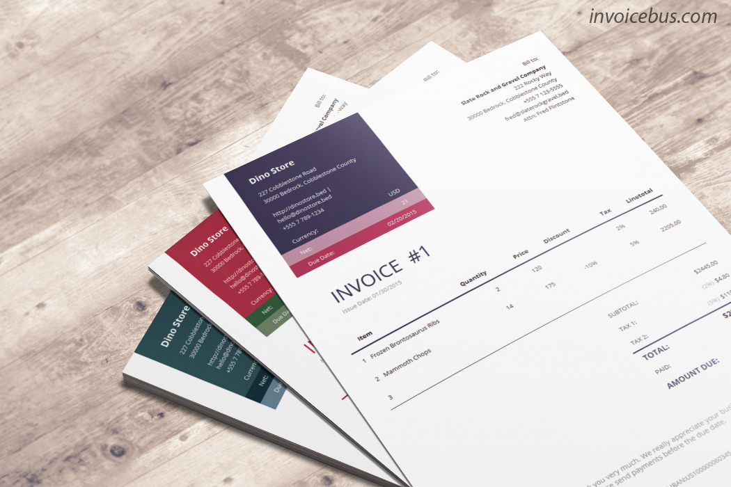 How great it would be if you could make your invoice stand out among 100s of others? Loretta is professional invoice template that makes sure you get noticed every time you request for money. Its appealing, bold design tells a story of successful corporate company. Download it at https://invoicebus.com/templates/invoices/corporate/professional-invoice-template-loretta/