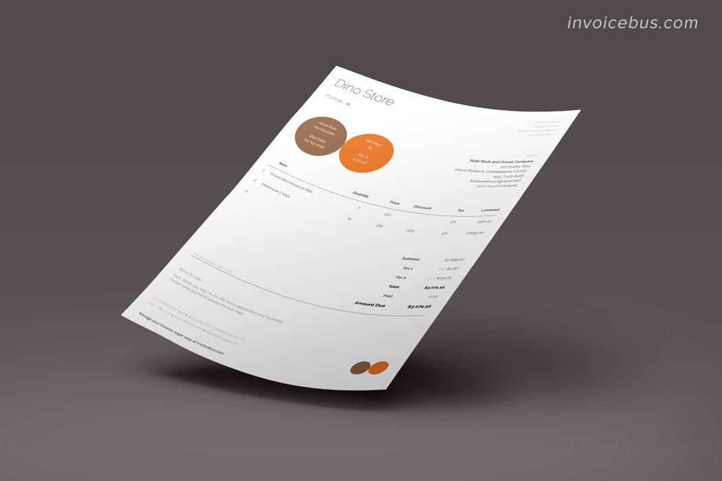 Proforma invoice template Circle 4