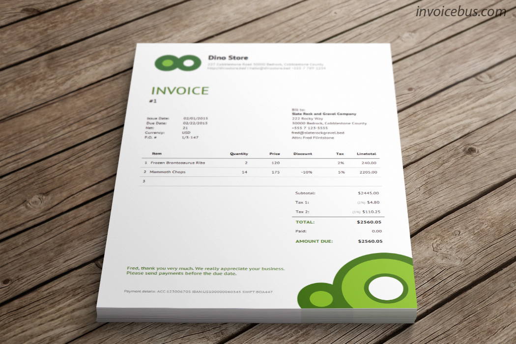 Simple Invoice Template Vip