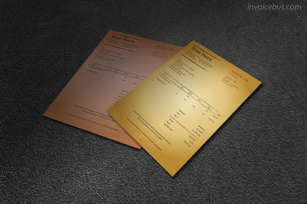 vintage invoice template