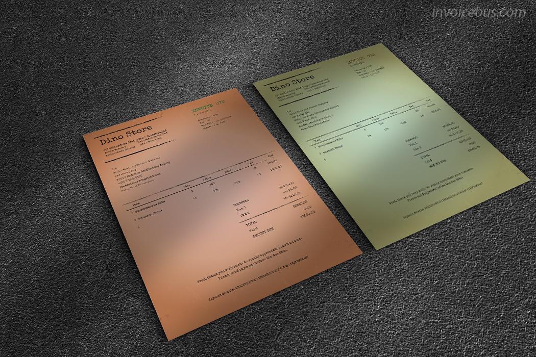 Vintage Invoice Template Lotus - Invoice download free vintage online stores