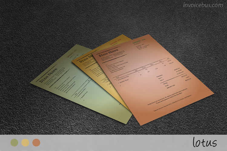 Vintage Invoice Template Lotus - Legal invoice template word vintage online stores